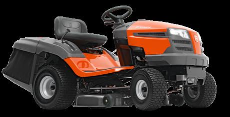 Садовый трактор - газонокосилка с сиденьем Husqvarna TC138L (Husqvarna 452 cм3 / 17 л.с., Трансмиссия K46 HYDRO, тр-ник 220л, дека 97см, счетчик моточасов) - фото