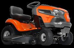 Садовый трактор - газонокосилка с сиденьем Husqvarna TS 142T (B&S Endurance Series V-Twin, гидростат. трансмиссия, выброс вбок, 107см) - фото