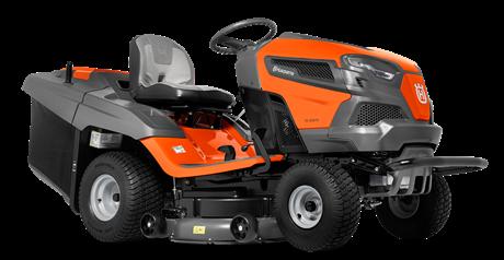 Садовый трактор - газонокосилка с сиденьем Husqvarna TC 242TX (Kawasaki 726 cм3, трансмиссия K57R HYDRO, тр-ник 220л, дека 108см) - фото