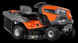 Садовый трактор - газонокосилка с сиденьем Husqvarna TC 242T (Husqvarna 764 cм3, трансмиссия K46 HYDRO, тр-ник 220л, дека 108см) - фото