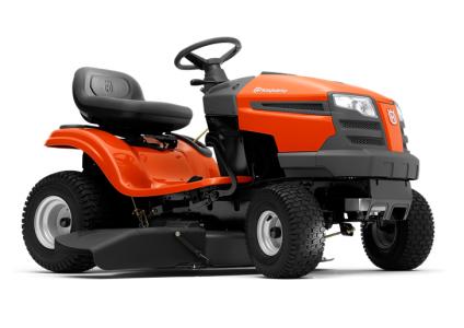 Садовый трактор - газонокосилка с сиденьем Husqvarna TS 138 (Husqvarna Intek 4155, вариатор CVT, выброс вбок, усил. дека, 97см) - фото